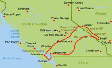 Kanada Westen Routenvorschlag Wohnmobil