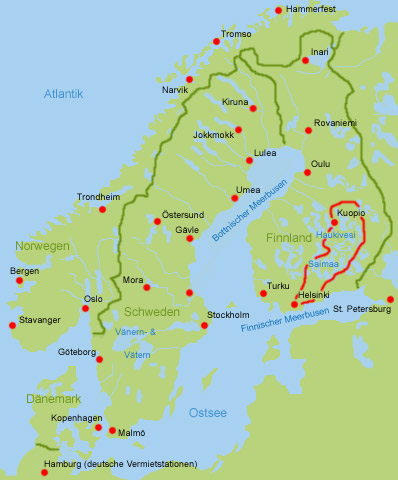 Wohmobil Finnische Seenplatte