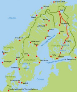 Wohnmobil Finnland Norden bis Sueden