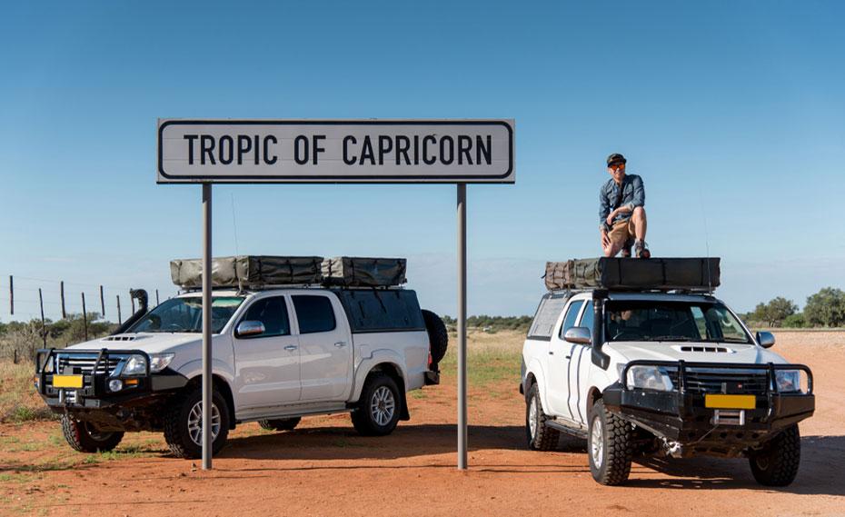 Two 4x4 camper vans Namibia